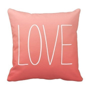PrimeKey Practical Softly Speak Out Love to Your Lover on Coral Pink Pillow Decorative Pillowcase Throw Pillow Cushion Cover Cushion Cover Pillow Case