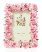 Picture Frame Photo Holder Pink Flower-10cm x 15cm
