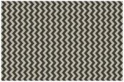1.5m x 2.1m, Chevron Black & White Washable Rug System