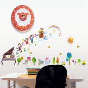 Wall sticker home decor Cartoon Piano Music