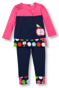 Le Top Little Girls Apple of My Eye Tunic and Leggings Set