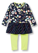 Le Top Little Girls Dancing Leaves Skirted Tunic and Leggings Set