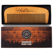 Hair and Beard Comb - Perfect for Balms and Oils - Anti-Static, No Snag Wooden Brush - Presented in Cardboard Gift Box ...