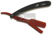 New Black & Red Metal Straight Barber Edge Razors Folding Shaving Knife