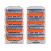 8pcs Generic Replacement Blades Cartridges for Gillette Fusion Shaving Razor