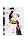 """Christian LaCroix Croquis Fashion Sketch A6 6"""" X 4.25"""" Softcover Notebook"""