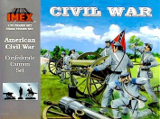 IMEX Set #780 Civil War 4.5kg Confederate Cannon and Plastic Toy Soldier Set in 1/32 scale
