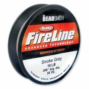 FireLine Braided Beading Thread 4.5kg SMOKE GREY .010 In 50 Yards