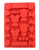 ZICOME Multi-Cavity Disney Cartoon Mickey Silicone Food Grade Cake Pudding Jelly Ice Chocolate Cookie Mould - Fun Toy for Kids