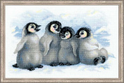 Riolis R1323 Counted Cross Stitch Kit, 40cm by 25cm , Funny Penguins