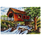 Craftways Covered Bridge Rug Latch Hook Kit