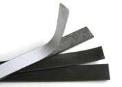 2.5cm x 13cm 60 mil Magnetic Adhesive Strips - 10 Pack - Strong Thick Magnet.