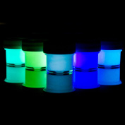 Glominex AT955 Ultra Glow in the Dark Paint - Assorted Colours (1/2 Fluid Ounces) - 5ct