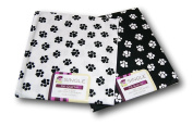 Creative Cuts Paw Prints Fat Quarters Bundle - Black and White Pattern Theme
