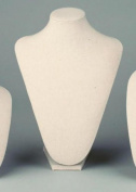 Large Cream Linen Table Top Bust Mannequin Jewellery Display Retail Store