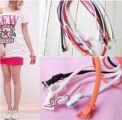 12pc 6 pair Mix Colour Thin Candy Colour Halter Bra Shoulder Neck Straps Women Girl Sleeveless Skirt Full Dress