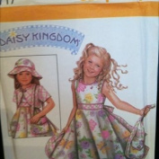 Simplicity Pattern 4717 Daisy Kingdom Dress Girl's size AA