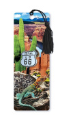 Dimension 9 3D Lenticular Bookmark with Tassel, Arizona Route 66 Featuring Saguaro Cactus and Native American Icons