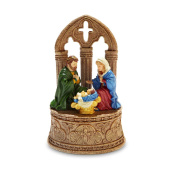 Rustic Nativity Musical Figurine by The San Francisco Music Box Company
