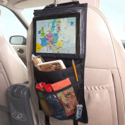 CreaTion® Car Storage & Backseat Organiser - iPad Holder | Eco Material | Must Have Baby Travel Accessories And Kids Toy Storage