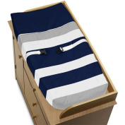 Baby Changing Pad Cover for Navy and Grey Stripe Collection