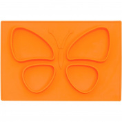 Baby Butterfly Placemat - Silicone Washable Toddler Placemat - No More Splatter Platter