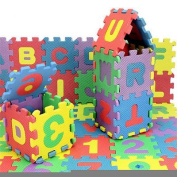 36pcs/set Alphabet & Numerals Baby Kids Play Mat Educational Toy Soft Foam Mats