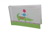"Baby Photo Album 4 x 6 Brag Book ""Circus Pals"" - Boy / Girl Baby Shower Gifts, - Holds 24 Precious Photos, Acid-free Pages"