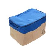 GreenForest Home Organising Basket Canvas Foldable Storage Tote Basket Bin, Blue