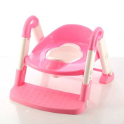 MKOOL 3-In-1 Soft Seat Toilet Trainer,Step Stool and Pastel Potty Ring.