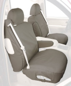 Covercraft Custom-Fit Front Bucket SeatSaver Seat Covers - Polycotton Fabric, Misty Grey