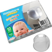 NEW 12x Pieces TPR APPROVED Baby Corner Guards by Kiddomore - Plastic Edge Bumpers made of Soft Foam for Home Furniture - Strong Pre-taped 3M Adhesive Child Proof Protection