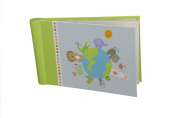 "Baby Photo Album 4 x 6 Brag Book ""Global Gatherings"" - Boy / Girl Baby Shower Gifts, - Holds 24 Precious Photos, Acid-free Pages"