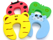 Door Guard Stopper - 4 Pieces Baby Animal Safety