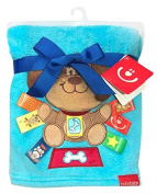 Cuddly Baby Blanket with 3D application 76 x 102 cm KCSN03