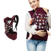 UBELA Backpack 4 in 1 Functional Baby Carrier Backpack   Front Back Baby Safety Carrier   Infant Comfort Sling Wrap Harness   Dandelion Printing   Red