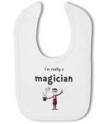 Im Really a Magician funny - Baby Bib