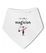 Im Really a Magician funny - Baby Bandana Bib