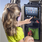 EarthSafe® Car Backseat Organiser iPad Holder Hanging Bag, Must Have Travel Road Trip Accessories and Kids Toy Storage