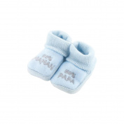 baby booties 0-3 Months blue - 50 50 Mama Papa