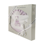 Box Set of white and purple linen - Bears Pattern