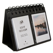 Urvoix(TM) 68 Desk Mini Photo Album for Fujifilm Instax Mini 8 7s 25 50s 90 Film, business Card, Black