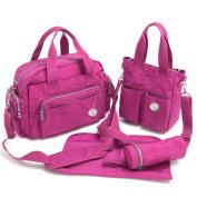 Babyhugs® 4pcs Baby Chic Nappy Changing Nappy Messenger Bag Set - Rose Pink