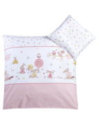 Julius Zöllner Bed Linen Happy Animals Pink