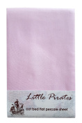 Pink Cot/Cot Bed Flat Sheet 100% Brushed Cotton percale