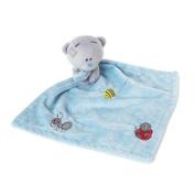 Blue Tiny Tatty Teddy Bear Baby Comforter