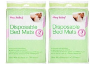 Baby Disposable Bed Mats Matress Protectors x 6 (2 packs of 3) 60 x 90cm Each Mat