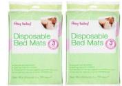 Baby Disposable Bed Mats Matress Protectors x 6 (2 packs of 3) 60 x 90cm Each Mat