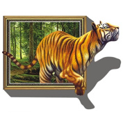 Samber PVC Material 3D Tiger Wall Stickers Waterproof for Home Decoration