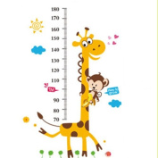 Samber Height Chart Wall Stickers Giraffe Monkery for Kindergarden Decoration